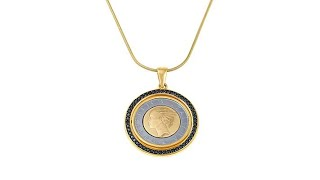 Download Bellezza 500 Lira Coin Black Spinel Bronze Flip Pendant ... Video