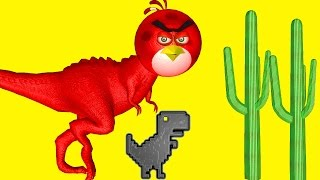 Download ANGRY BIRDS in STEVE - The JUMPING DINOSAUR ♫ 3D animated game mashup ☺ FunVideoTV - Style ;-)) Video