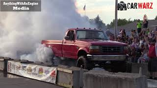 Download Red Ford Truck Smokey Burnout At Rod Benders Burnout Competition Video