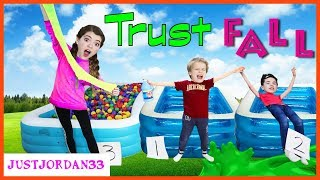 Download Blindfold Trust Fall - Don't Choose The Wrong Ball Pit (Slime Edition) Challenge! / JustJordan33 Video
