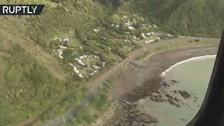Download Helicopter Footage: New Zealand earthquake aftermath Video