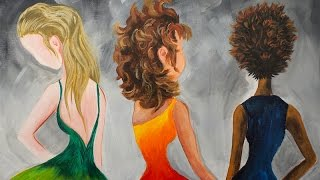 Download Learn to paint Hair in Acrylic Paint for Beginning Artists #bigartquest Video