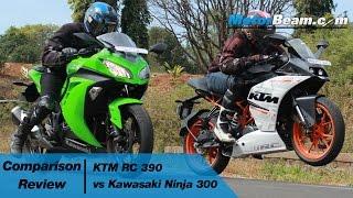 Download KTM RC 390 vs Kawasaki Ninja 300 - Comparison Review | MotorBeam Video
