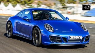 Download 2018 Porsche 911 Carrera 4 GTS Coupe Sapphire Blue Design & Racetrack Drive HD Video