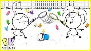 Download Emma & Kate ″Catching Butterflies″ - EK Doodles Funny Cartoon Animation Video