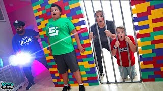 Download Hide and Seek Cyber Security Cops & Robbers Surprise Giant Lego Box Fort! Video
