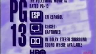 Download HBO PG 13 Warning 1995 Video