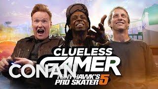 Download Clueless Gamer: ″Tony Hawk's Pro Skater 5″ With Tony Hawk & Lil Wayne - CONAN on TBS Video