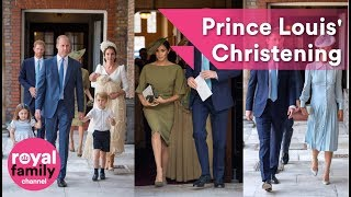 Download The Royal Family and guests arrive for Prince Louis' Christening Video