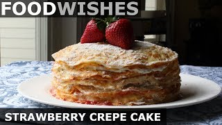 Download Strawberry Crepe Cake - Food Wishes Video
