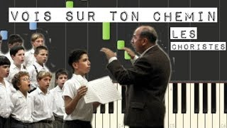 Download Vois Sur Ton Chemin - Les Choristes /Piano Tutorial [Synthesia] Video