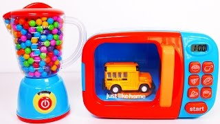 Download Learn Colors with Vehicles for Kids Microwave and Blender Video