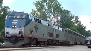 Download INCREDIBLE TRIPLE TRAIN MEET! w/ P053 P090 & P091 Amtrak 189 Big Game Train & Amtrak 822 heritage Video