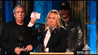 Download Billie Joe Armstrong of Green Day Inducts the Stooges into the Rock and Roll Hall of Fame Video