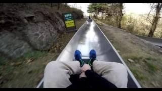 Download Great Wall of China Crazy Toboggan Run - POV Mutianyu Sled Ride - GoPro Hero 4 Video