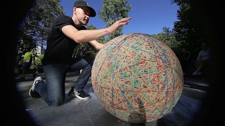 Download HUGE rubber band ball in Central Park Video