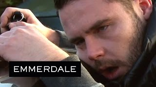 Download Emmerdale - Aaron Collapses Into Robert's Arms Video