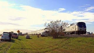 Download Amtrak 6 - Strikes Semi (with radio communications) at Somonauk, Illinois on 10-13-2015 Video