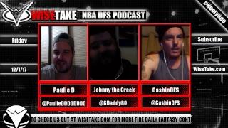 Download NBA FanDuel & DraftKings Podcast - 12/1/17 w/ @PaulieDDDDDDDD @GDaddy80 & @CashinDFS Video
