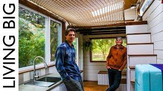 Download DIY Tiny House With Amazing Loft Hammock Video