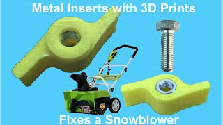 Download Metal Inserts on a 3D Print - Video #020 Video