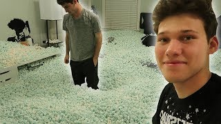 Download PRANKING ROOMATES ROOM WITH 10,000 PACKING PEANUTS! Video