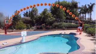 Download BASKETBALL TRICKSHOTS! H.O.R.S.E CHALLENGE! LOSER JUMPS IN POOL *WITH CLOTHES* Video