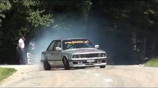 Download Cool Drifts of BMW E30 and AE86 - pure sounds - drifting at Hillclimb Bergrennen Reitnau Video