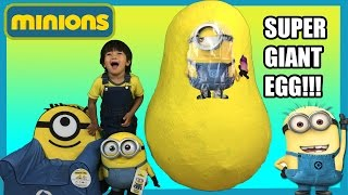 Download GIANT EGG SURPRISE MINION from Despicable Me kids Video Ryan ToysReview Video