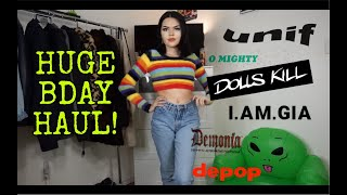 Download BDAY TRY ON HAUL! (Dollskill, Unif, IAMGIA, OMighty, Depop) Video