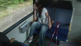 Download Amputee Alexandra is taking the train Video