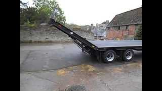Download Low loader hydraulic beavertail Video