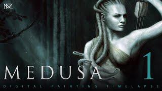 Download Digital Art Process - Medusa - Process Part 1 Video