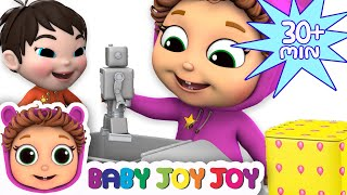 Download Pop Goes the Weasel   5 Little Babies Toy Surprises   Learn Colors Video