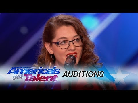 Mandy Harvey: Deaf Singer Earns Simon's Golden Buzzer With Original Song - America's Got Talent 2017