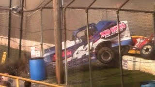 Download Modified Crash into Flag Stand | Genesee Speedway | 9-17-17 Video