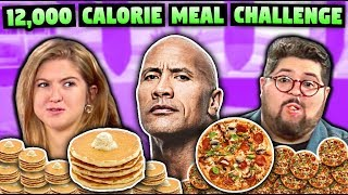 Download We Tried The Rock's 12,000+ Calorie Cheat Meal Challenge Video