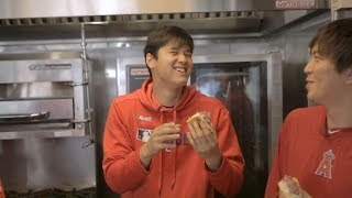 Download Mike Trout has Shohei Ohtani losing it while trying stadium food | Angels Weekly Video