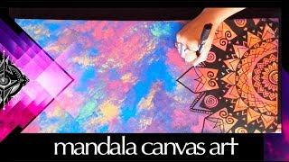 Download Mandala Art Canvas Speed Painting - Morgan Joanel Video