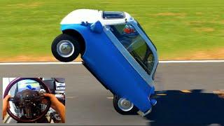 Download Forza 6 GoPro 1957 BMW Isetta 300 Wheelie + Three Wheel Sliding! | SLAPTrain Video