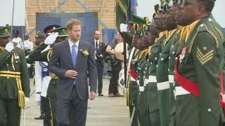 Download Prince Harry is welcomed to Barbados to celebrate the country's 50th anniversary Video
