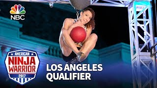 Download Zhanique Lovett at the Los Angeles Qualifiers - American Ninja Warrior 2017 Video