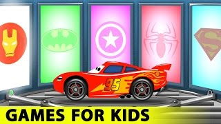 Download Lightning McQueen and Spiderman Cars Cartoon for Kids with Fun Race Learn Colors for Children Video