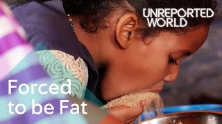 Download Young girls force-fed for marriage in Mauritania | Unreported World Video
