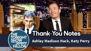 Download Thank You Notes: Ashley Madison Hack, Katy Perry Video