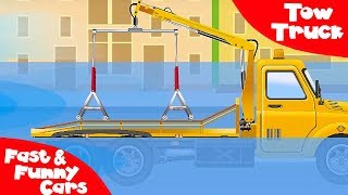 Download The Tow Truck and The Truck - Service Vehicles. Cars & Trucks Cartoon for kids Video