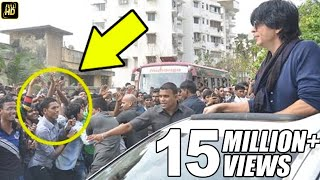 Download CRAZY Fans Attack Shahrukh Outside Mannat On His BIRTHDAY 2016 Video
