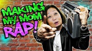 Download Making my Mom Rap like Eminem! Video