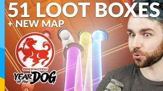 Download 51 Year of the Dog Lootboxes (ALL SKINS) + Ayutthaya map | Overwatch: Lunar New Year Event Video