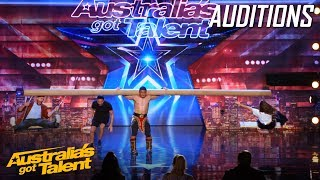Download AMAZING Mongolian 'Strong Man' Takes Judges for a Ride | Auditions | Australia's Got Talent Video